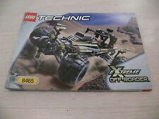 Lego notice 8465 / lego instruction Extreme Off-Roader
