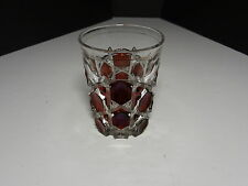 "Ohio Flint Glass Krys-Tol Hexagon Tumbler Ruby EAPG Clear Crystal 4"" T ca1905-07"