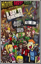 A DAY TO REMEMBER | PIERCE THE VEIL | ALL TIME LOW 2013 House Party Tour Poster!