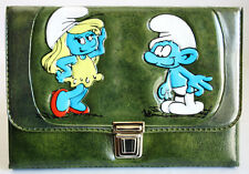 AMAZING ORIGINAL VINTAGE 80'S SMURFS PENCIL CASE BAG #1 ULTRA RARE BRAND NEW !
