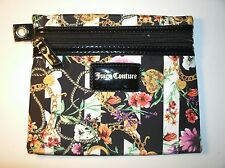 Juicy Couture Dome Cosmetic Case Floral Print on Black