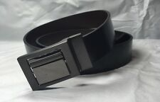 New Burtons Mens Belt Black Leather Belt New Smart With Tag Bnwt Medium 32-36
