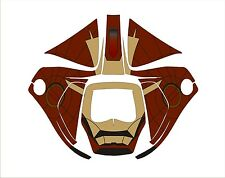 3M SPEEDGLAS 9100 V X XX AUTO SW WELDING HELMET WRAP DECAL STICKER iron man