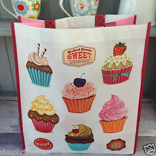 Cup Cakes Reusable Shopping / Shopper Bag, Gift Shabby Vintage  Chic