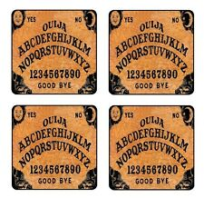 OUIJA BOARD GAME COASTER & HOLDER SET OF 4 - Gloss Hardboard FREE stand