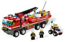 Lego City Fire Set 7213 Off-Road Fire Truck & Fire Boat 2010 Complete Bricks