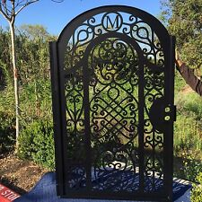 Metal Gate Free Monogram Custom Pedestrian Walk Wrought Iron Garden Ornamental