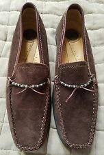WOMEN'S BASS BROWN LEATHER SLIP ON COMFORT MOC MOCCASIN SHOES FLATS SIZE 11M EUC