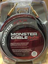 "Monster M-Rock2 21 Foot Straight 1/4"" Guitar Instrument Cable Cord Rock 2"