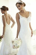 Sexy White/Ivory Lace Wedding Dress Bridal Gown Custom Size 6 8 10 12 14 16++++