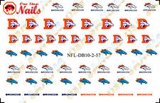 NFL - Denver Broncos Nail Art Waterslide Set of 57. TOP Quality. FAST SHIPPING!
