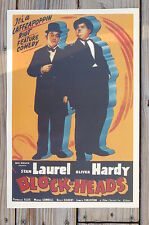 Block-Heads Movie Lobby Card Poster Stan Laurel Oliver Hardy
