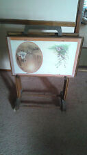 Vintage 1960's T.V. Trays with Cart