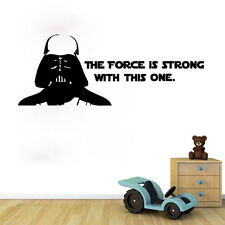 Star Wars Darth Vader Quotes Wall Sticker Vinyl Art Decals Mural Home Decor New