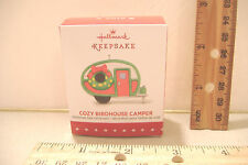 ~COZY BIRDHOUSE CAMPER~2015 HALLMARK MINIATURE ORNAMENT