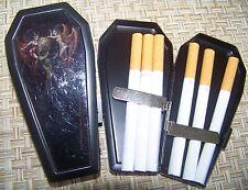 BRAND NEW Coffin Biker Metal Cigarette Case &  folding knife & key fob