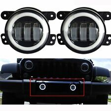 2x 4 inch CREE LED Fog Lights white Halo For 2011-2013 Jeep Grand Cherokee 50053