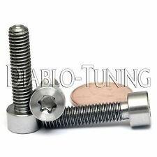 TITANIUM M6 x 25mm - SOCKET Cap Screw SHCS - T30 TORX drive / Star / 6lobe / TX