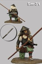 Painted TOY SOLDIER 54mm Ashigaru with Yari Medieval Japan miniature 1/32 Sm-31