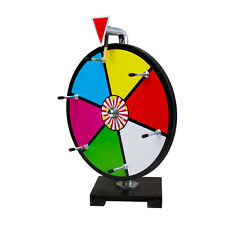 "12"" Multi Color Dry Erase Prize Wheel Table Top Carnival"