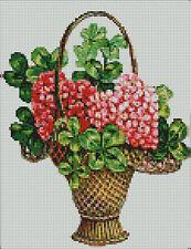 """Panier de fleurs Compté Cross Stitch Kit 10 """"x 8"""""""