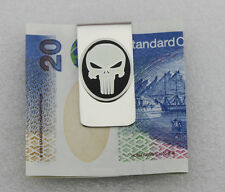 THE PUNISHER SKULL LOGO METAL BADGE MONEY CLIP