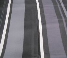 Allen Roth Allison Stripe Drape Curtain Pocket Panel Onyx Black Gray Purple 84L