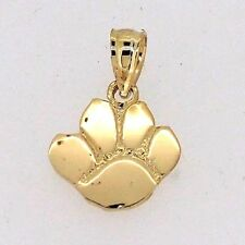 Dog Puppy Paw Print Animal Charm in 14k Yellow Gold