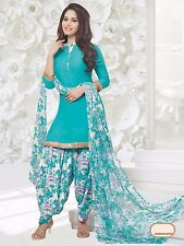 Elegant Crepe Designer Printed Patiala Unstitched Dress Material Suit.No RR9058