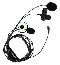 Motorcycle Helmet Headset Microphone with Finger PTT for ICOM IC-F21 Radios B2C