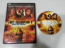 EL REY ESCORPION 3 BATALLA POR LA REDENCION DVD + EXTRA ESPAÑOL ENGLISH REGION 2