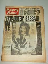 MELODY MAKER 1972 OCTOBER 7 THE FACES SLADE PINK FLOYD BLACK SABBATH DAVID BOWIE