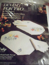Stamped for Embroidery Kit  Placemats/ Napkins /Tulips/ Tobin