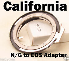 N/G to EOS Nikon D Ais Ai K DX Lens to Canon EF Mount Adapter Ring 5D II III 60D