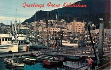 Ketchikan Alaska Commercial Fishing Fleet Southernmost Big Town Postcard