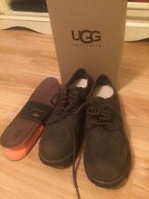Men's New Ugg Australia Brown Leather Shoes With Twinsoles Size 8