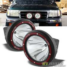 "PAIR of 8"" 4X4 Built-In 6000K Xenon HID Fog Light+Stone Guard SUV JEEP TRUCK ATV"