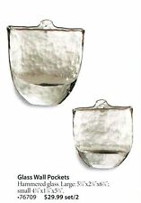Home Interiors BHG Glass Wall Vases Set/2 Plaques LAST ONE! NEW HOMCO HIG 76709