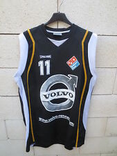 Maillot porté n°11 RENNES BASKET 35 noir Spalding shirt collection camiseta XXL
