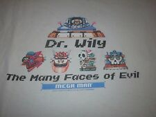DR. WILY THE MANY FACES OF EVIL SHIRT MEG MAN DELETED STYLE LARGE