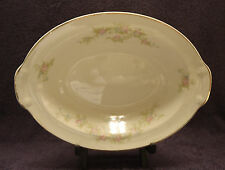 Taylor Smith Taylor China Oval Serving Bowl USA Pink and Blue Flowers