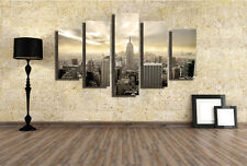 MODERN ABSTRACT LARGE WALL DECOR ART OIL PAINTING NEW YORK CITY CANVAS NO FRAME