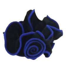 Fashion Spanish Rose Flower Velvet Hair Scrunchie Ponytail Holder Hair Accessory