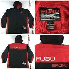 Vintage FUBU SPORT JACKET Mens XL / XXL New York Hip Hop Polo 90's 2000's HTF