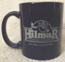 """VINTAGE CUPS & MUGS--HILMAR CHEESE CO COFFEE CUP--3 3/4"""" TALL--NICE-GREAT PATINA"""
