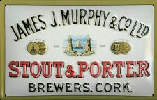 James J. Murphy & Co Ltd Stout & Porter Blechschild Schild Tin Sign 20 x 30 cm