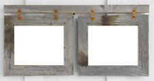 "Double 8x10 Weathered Rustic Reclaimed 2"" Barn Wood Picture Photo Frame"