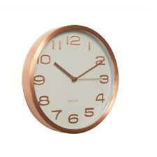 Karlsson White Faced Maxie Clock  - Copper numbers, Battery operated