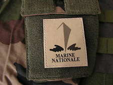 SNAKE PATCH - MARINE NATIONALE - TAN / SABLE basse visibilité écusson SCRATCH