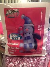 Gemmy Airblown Inflatable Lighted Chilly Willy Christmas Penguin Candy Cane New